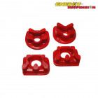 Insercciones Patas de Motor Energy Suspension en color Rojo (Prelude 92-01)