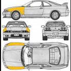 Aletas Delanteras de Fibra de Vidrio  (Skyline R33 GTS)