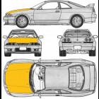 Capó de Fibra de Vidrio  (Skyline R33)