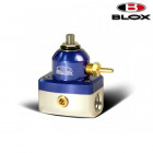 BLOX Racing 2-Port Competition Adjustable Fuel Pressure Regulator Blue/Silver (Universal)