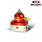 BLOX Racing 2-Port Competition Adjustable Fuel Pressure Regulator Red/Silver (Universal)