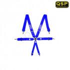 Arnés QSP Modelo PRO de 6 puntos Homologado FIA color Rojo Azul  (Universal)