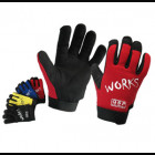 QSP Precurved Mechanic Gloves Red XXL (Universal)