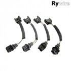 Adaptadores de Inyectores Rywire  OBD1-OBD2 (4 Piezas) (Honda)