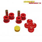 Silentblocks Superiores e Inferioresde los  Amortiguadores Delanteros Energy Suspension Rojos (Civic 95-01 VTi)