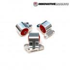 Soportes de Motor Innovative de Reemplazo con dureza para uso Extremo (acabado pulido y patas de distribucion de 3 tornillos)  (Civic 91-96/Del Sol/Integra)
