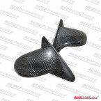 Aerodynamics Spoon Side Mirrors Carbon (Electrical) (Civic 87-91 3dr/CRX 87-93)